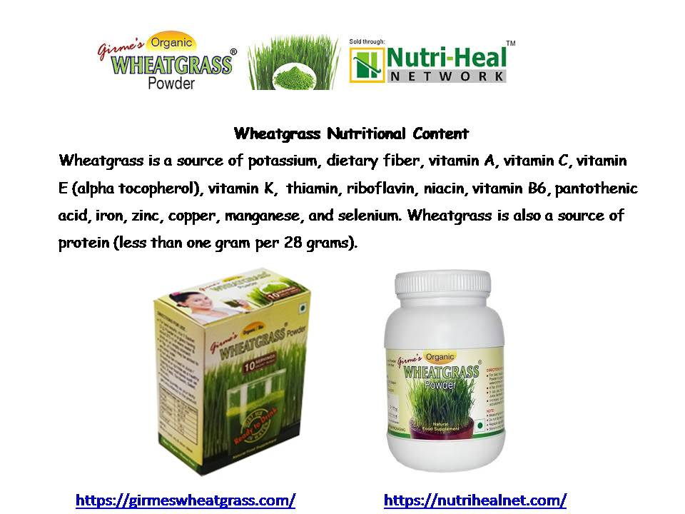 Wheatgrass Nutritional Content